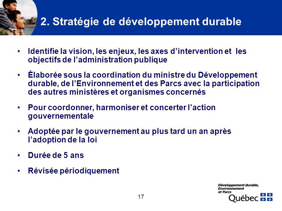 3. Responsabilités des ministères et organismes