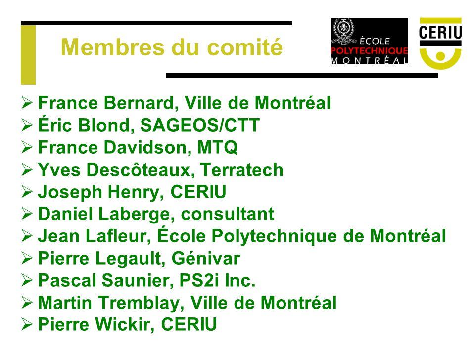 Membres du comité France Bernard, Ville de Montréal