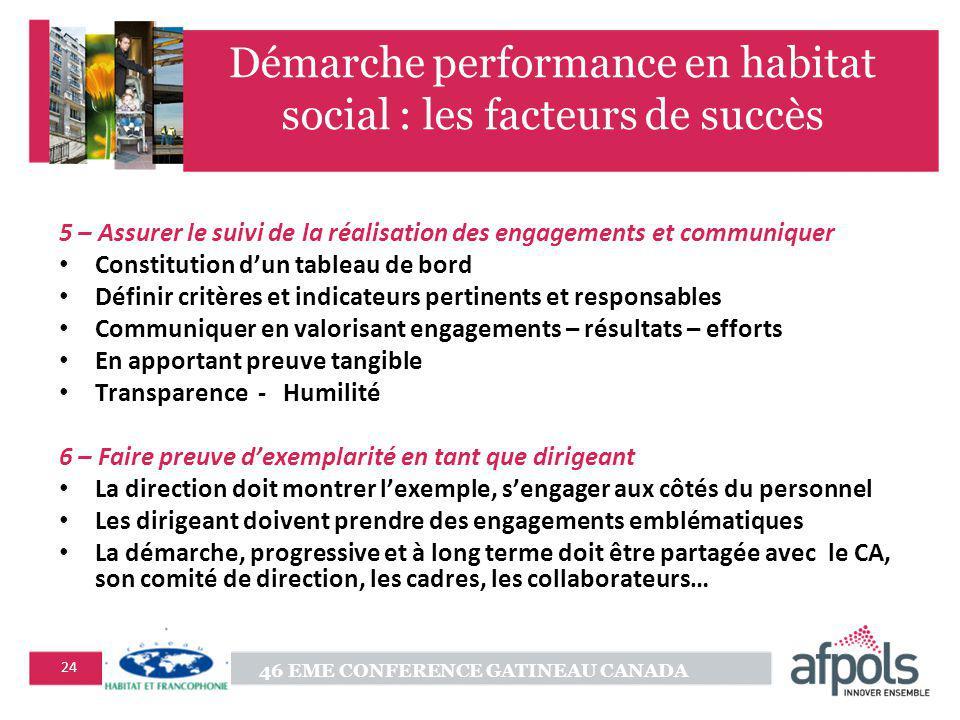 Démarche performance en habitat social : les facteurs de succès
