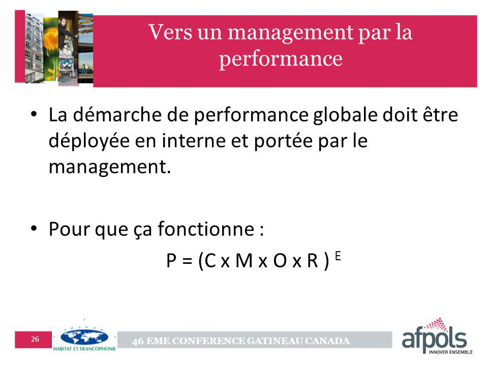 Vers un management par la performance