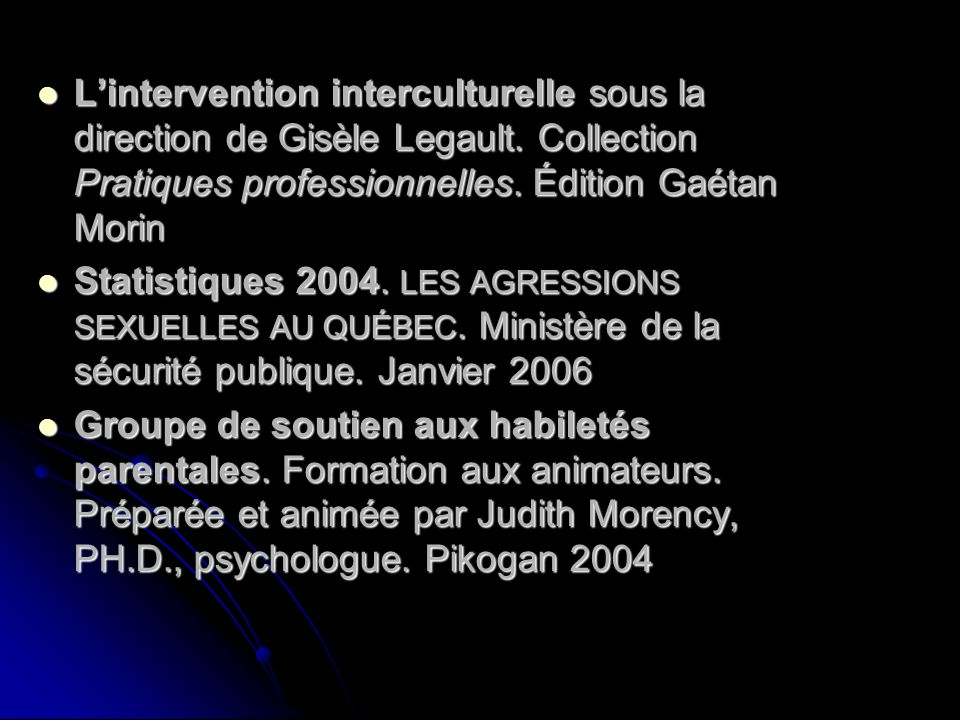 L'intervention interculturelle sous la direction de Gisèle Legault