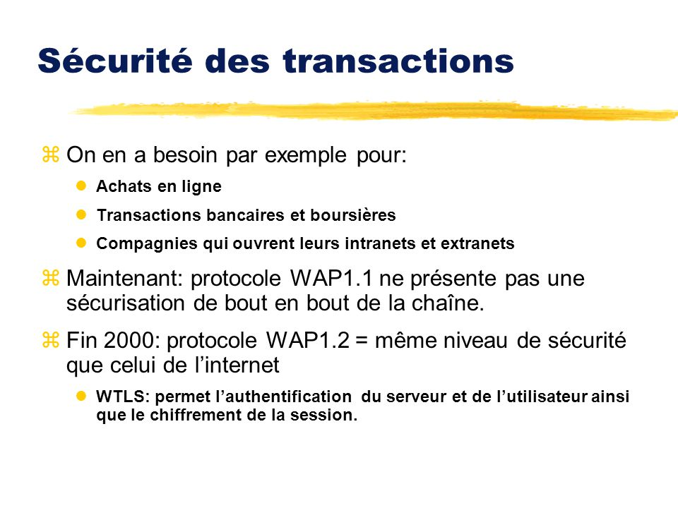 Sécurité des transactions