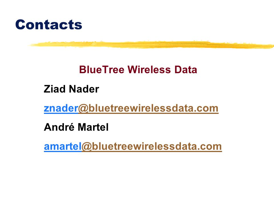 BlueTree Wireless Data