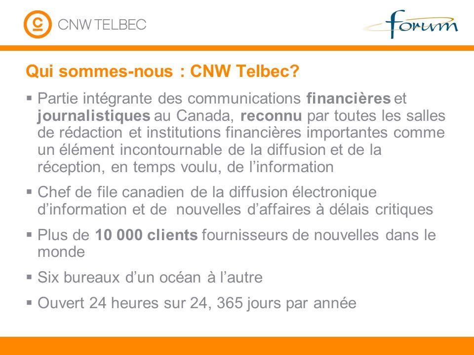 Qui sommes-nous : CNW Telbec