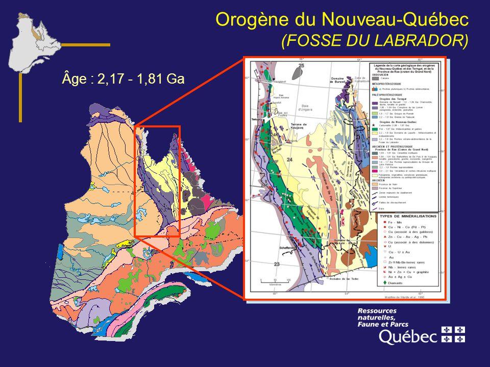 Orogène du Nouveau-Québec (FOSSE DU LABRADOR)