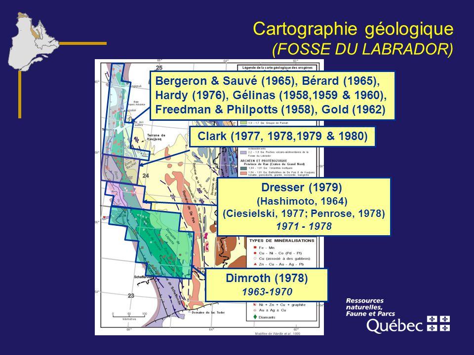 Cartographie géologique (FOSSE DU LABRADOR)