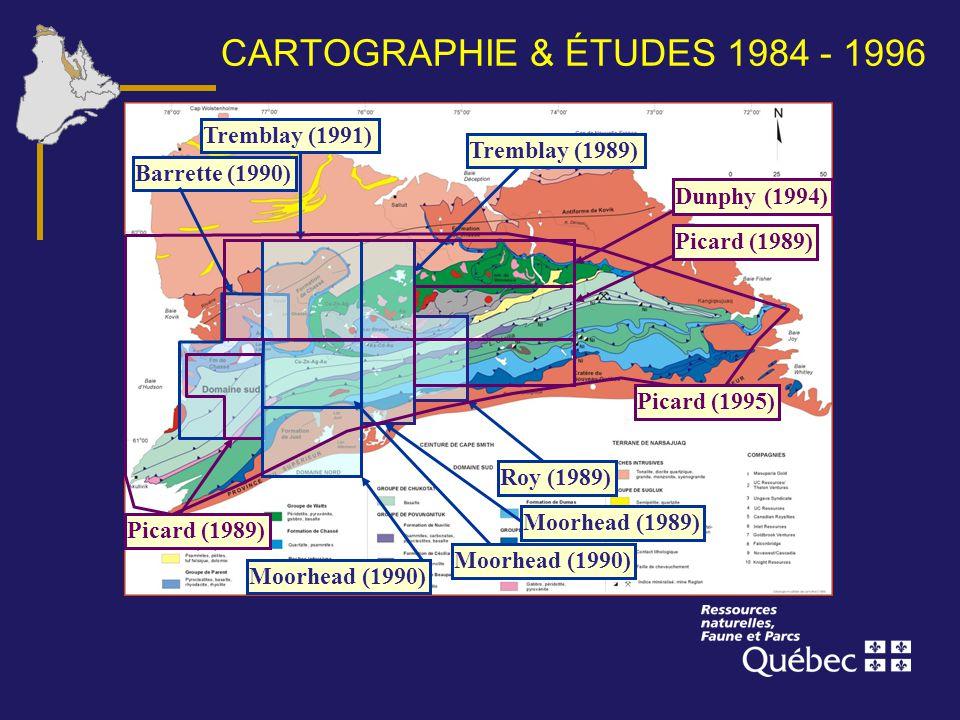 CARTOGRAPHIE & ÉTUDES 1984 - 1996