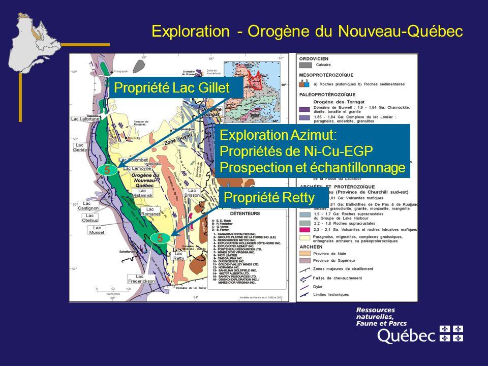 Exploration - Orogène du Nouveau-Québec