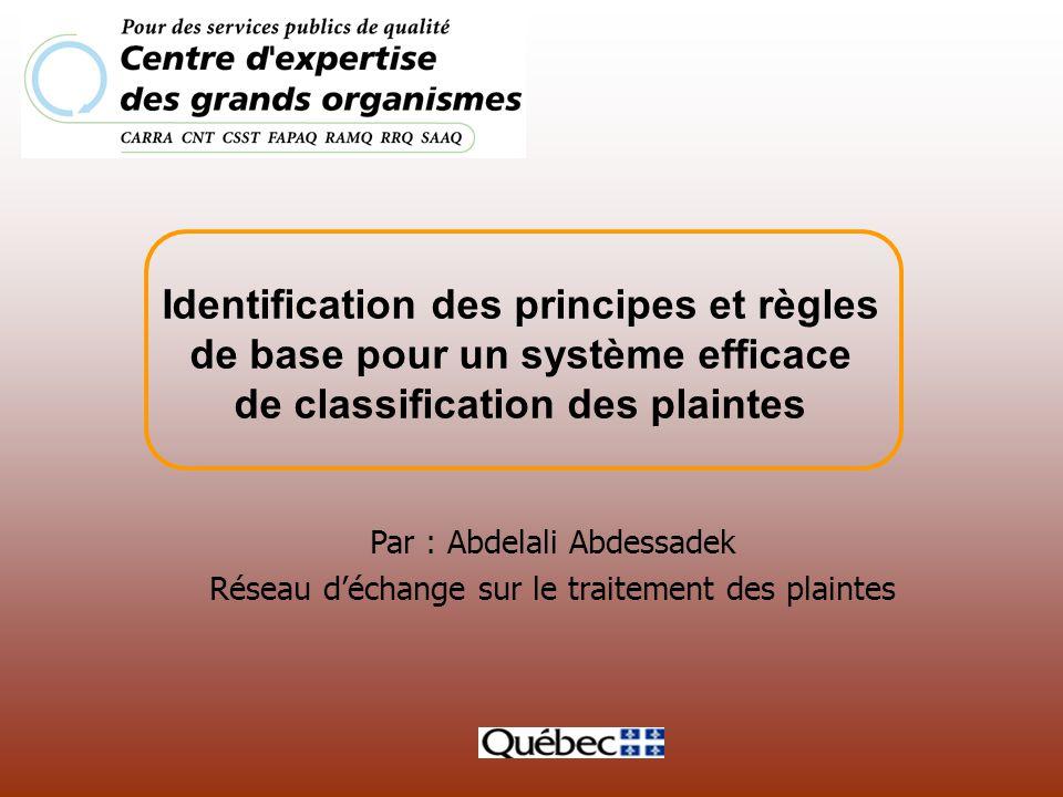 Identification des principes et règles