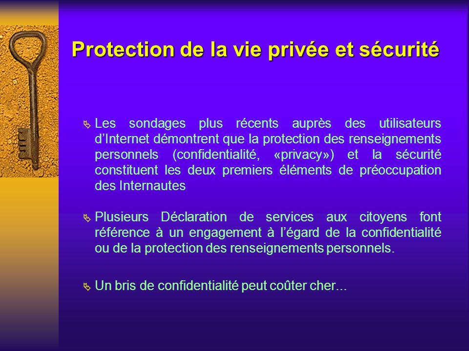 Protection de la vie privée et sécurité
