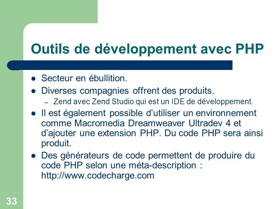 Outils de développement avec PHP