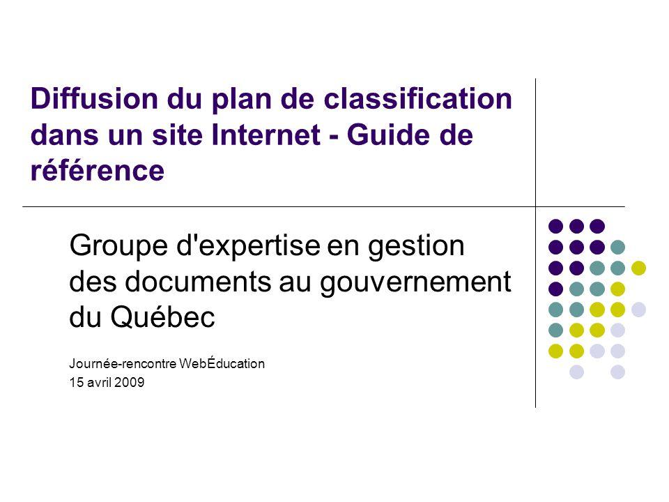 Groupe d expertise en gestion des documents au gouvernement du Québec