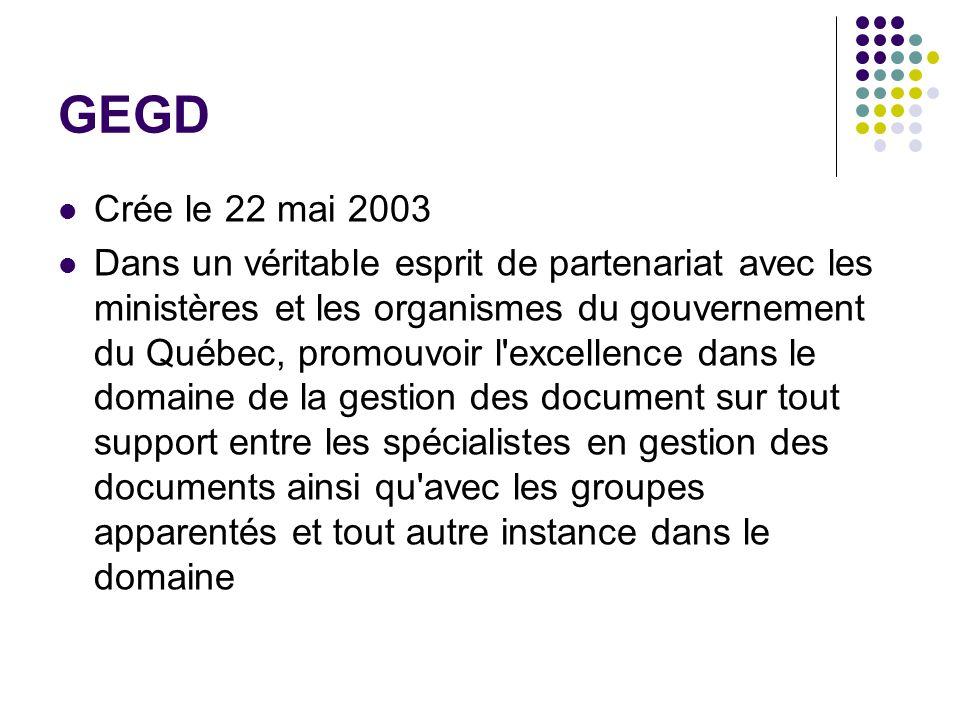GEGD Crée le 22 mai 2003.