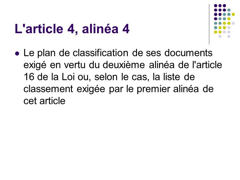 L article 4, alinéa 4