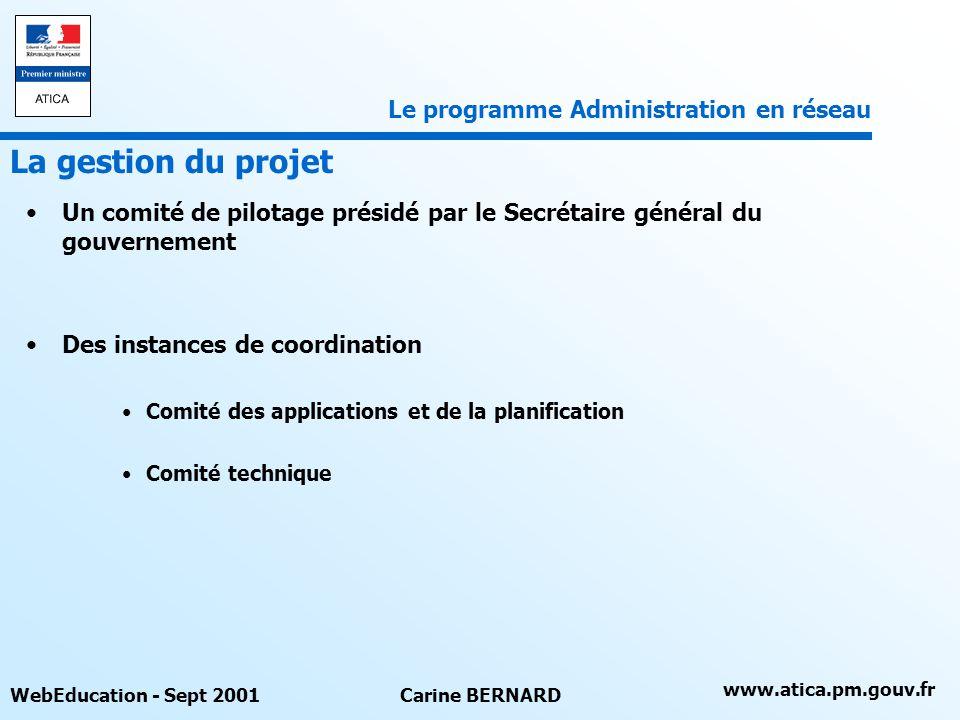 La gestion du projet Le programme Administration en réseau