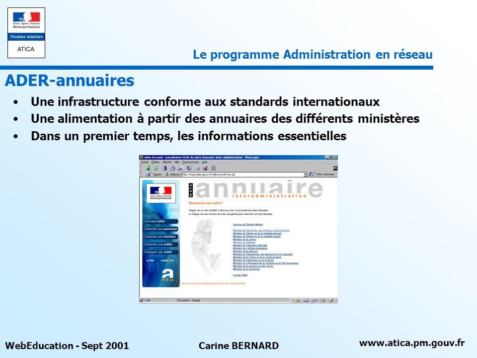 ADER-annuaires Le programme Administration en réseau