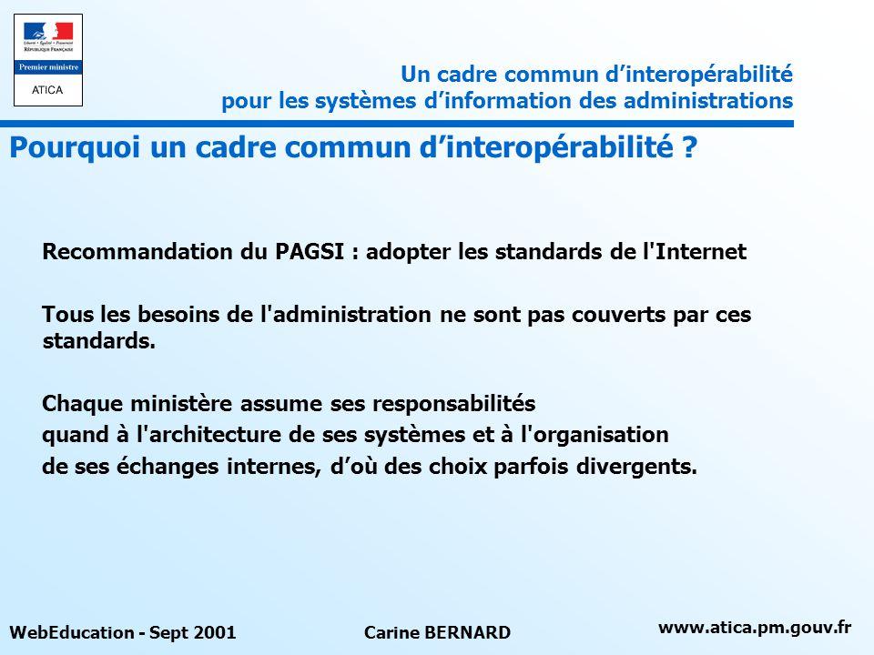 Pourquoi un cadre commun d'interopérabilité
