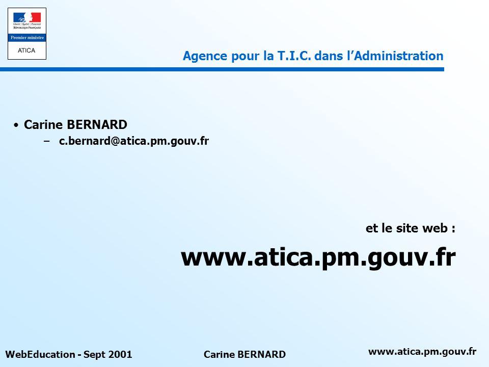www.atica.pm.gouv.fr Agence pour la T.I.C. dans l'Administration