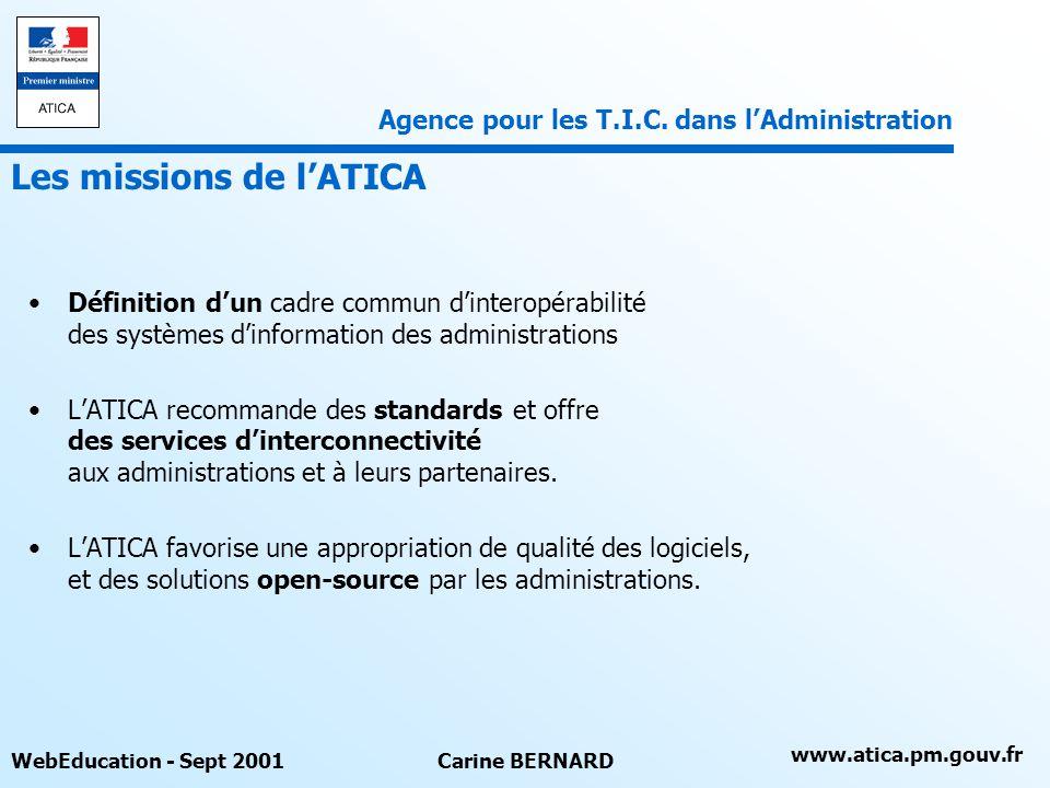 Les missions de l'ATICA