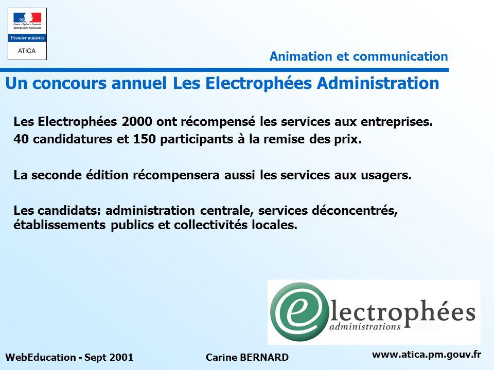 Un concours annuel Les Electrophées Administration