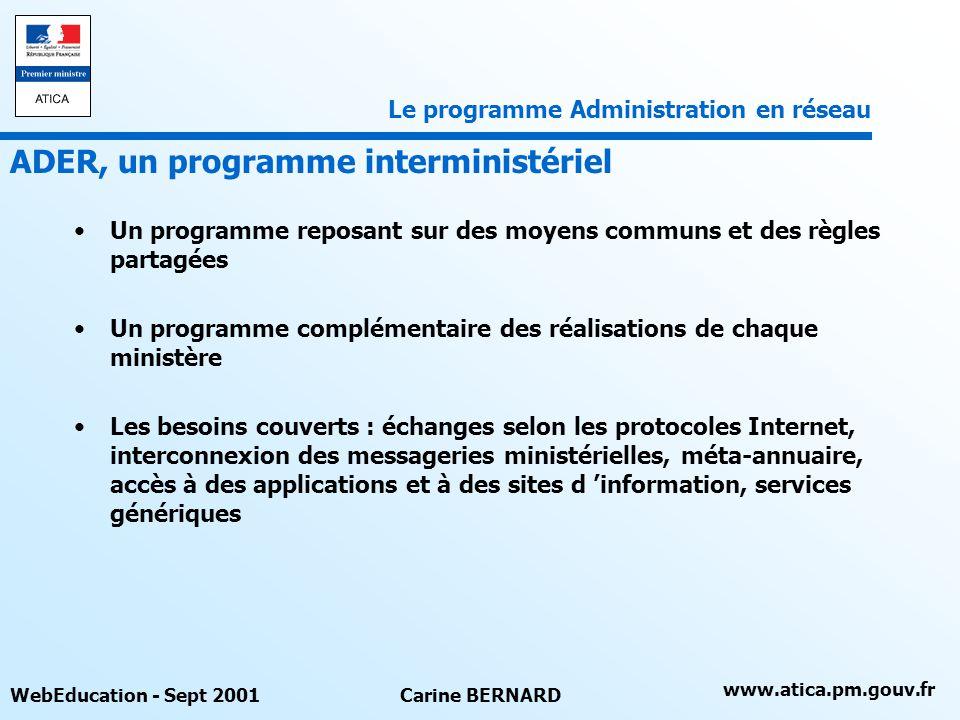 ADER, un programme interministériel