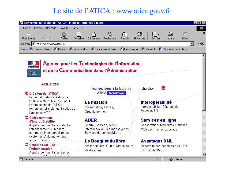 Le site de l'ATICA : www.atica.gouv.fr