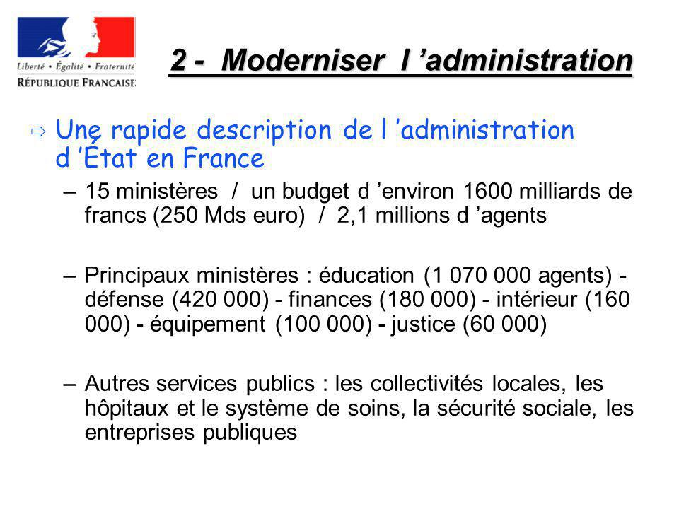 2 - Moderniser l 'administration