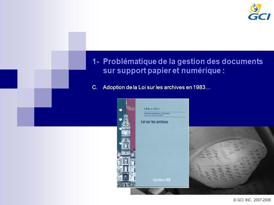 1- Problématique de la gestion des documents sur support papier et numérique :