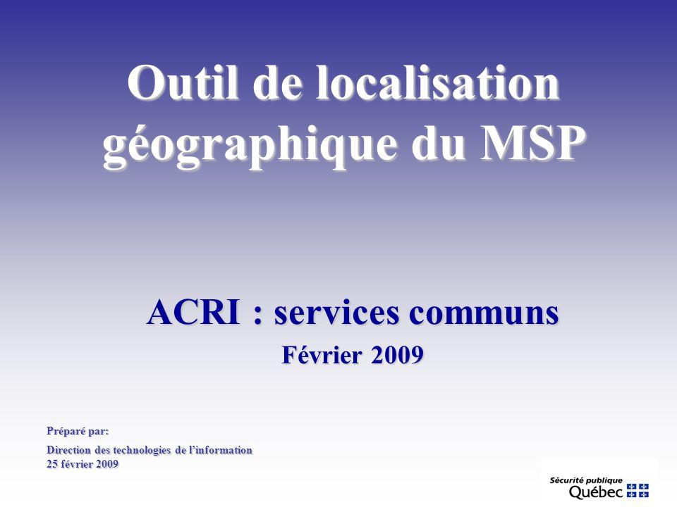 Outil de localisation géographique du MSP