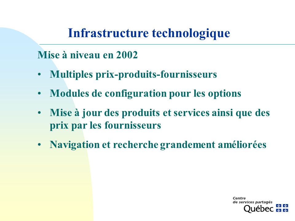 Infrastructure technologique