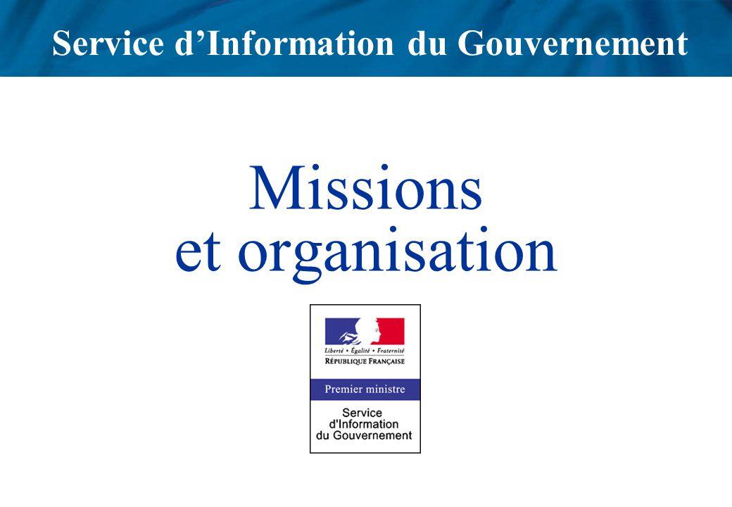 Missions et organisation