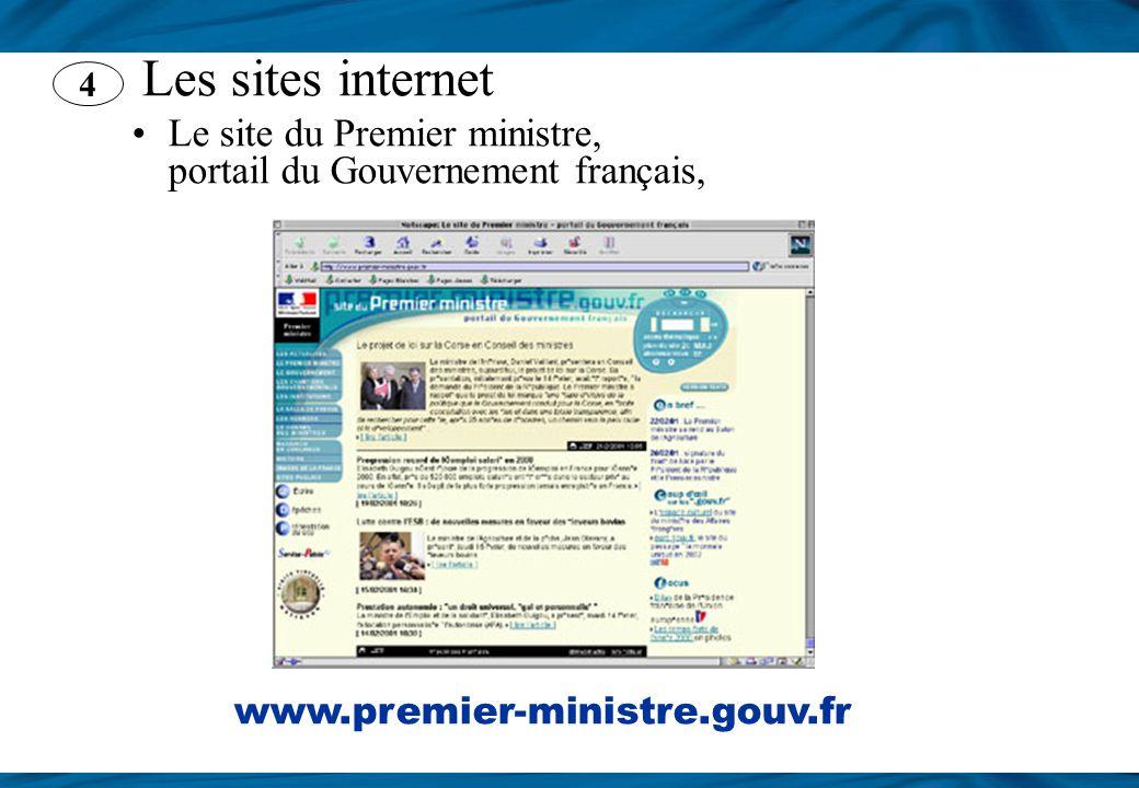 Le site du Premier ministre, portail du Gouvernement français,