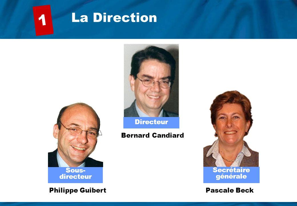 1 La Direction Directeur Secrétaire générale Sous-directeur