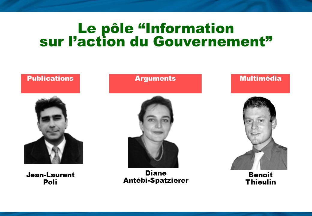 Le pôle Information sur l'action du Gouvernement