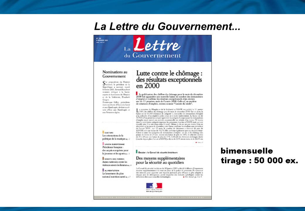La Lettre du Gouvernement...