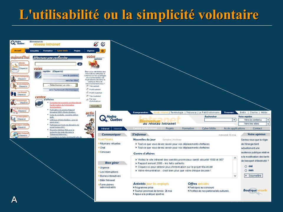 L utilisabilité ou la simplicité volontaire