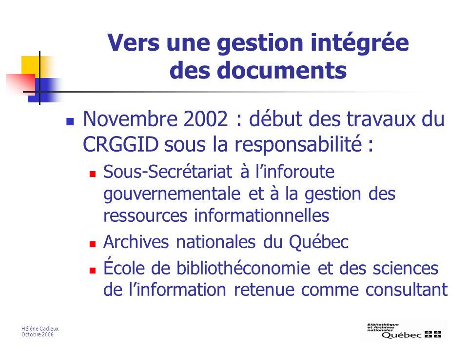 Vers une gestion intégrée des documents