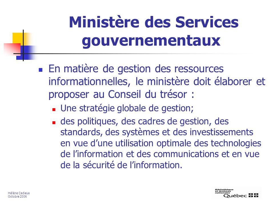 Ministère des Services gouvernementaux