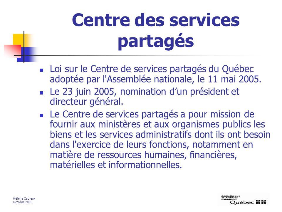 Centre des services partagés