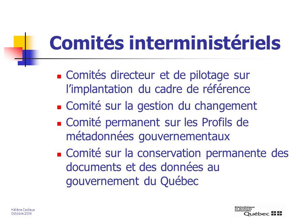 Comités interministériels