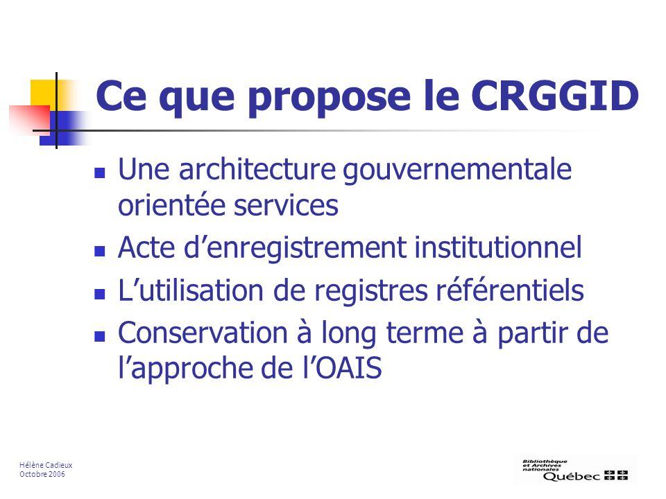 Ce que propose le CRGGID