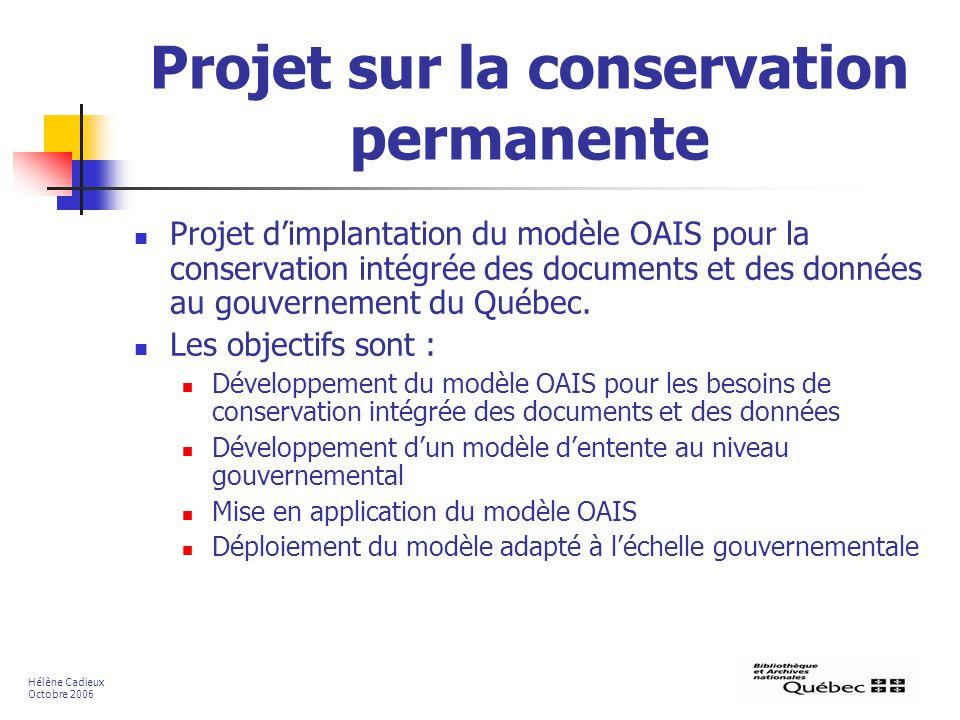Projet sur la conservation permanente