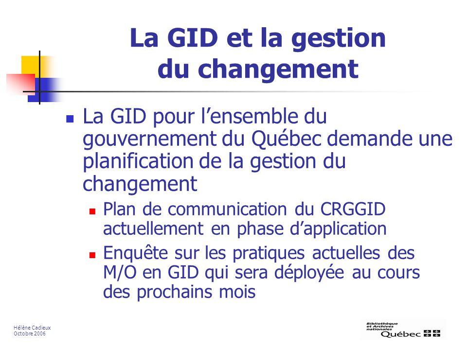 La GID et la gestion du changement