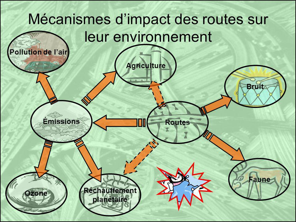 Mécanismes d'impact des routes sur leur environnement