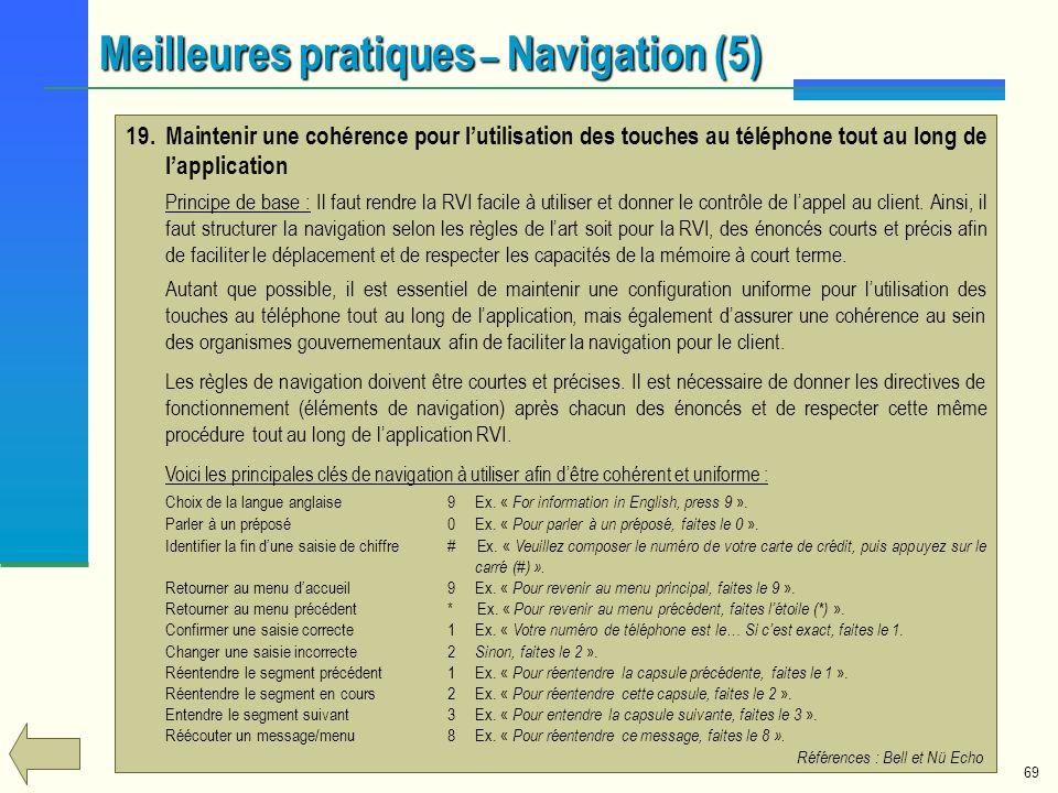 Meilleures pratiques – Navigation (5)