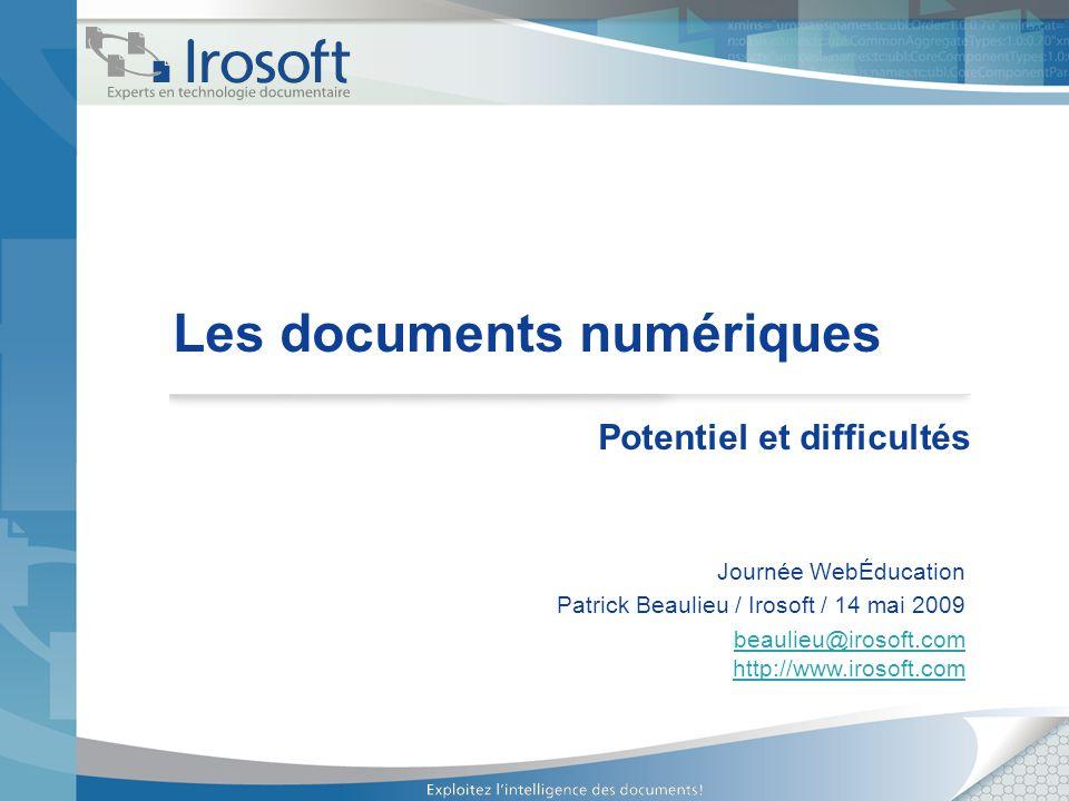 Les documents numériques