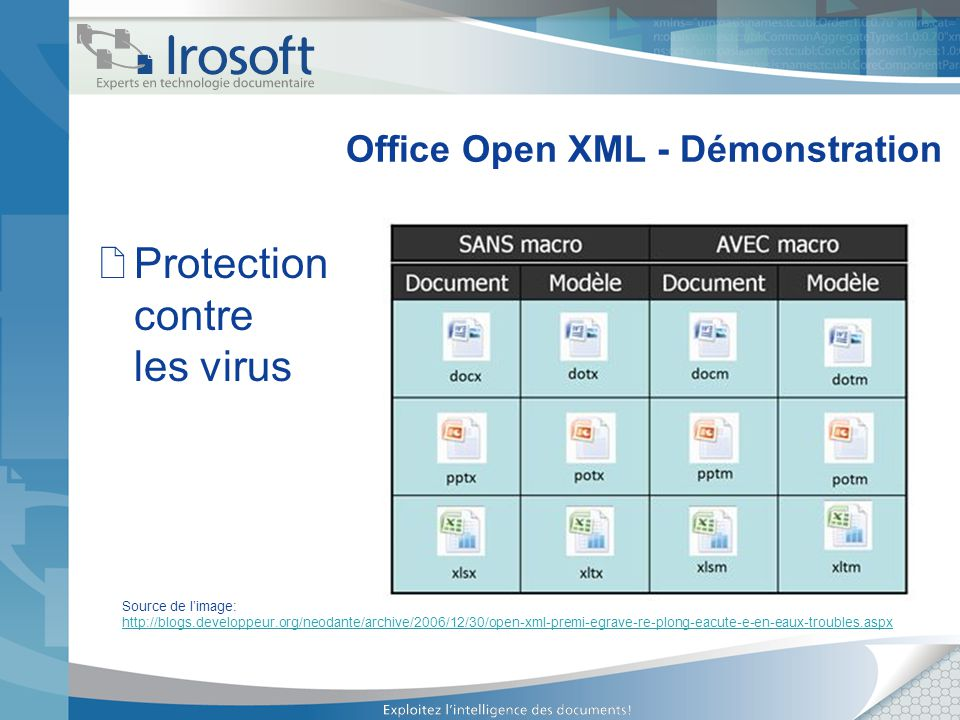 Office Open XML - Démonstration