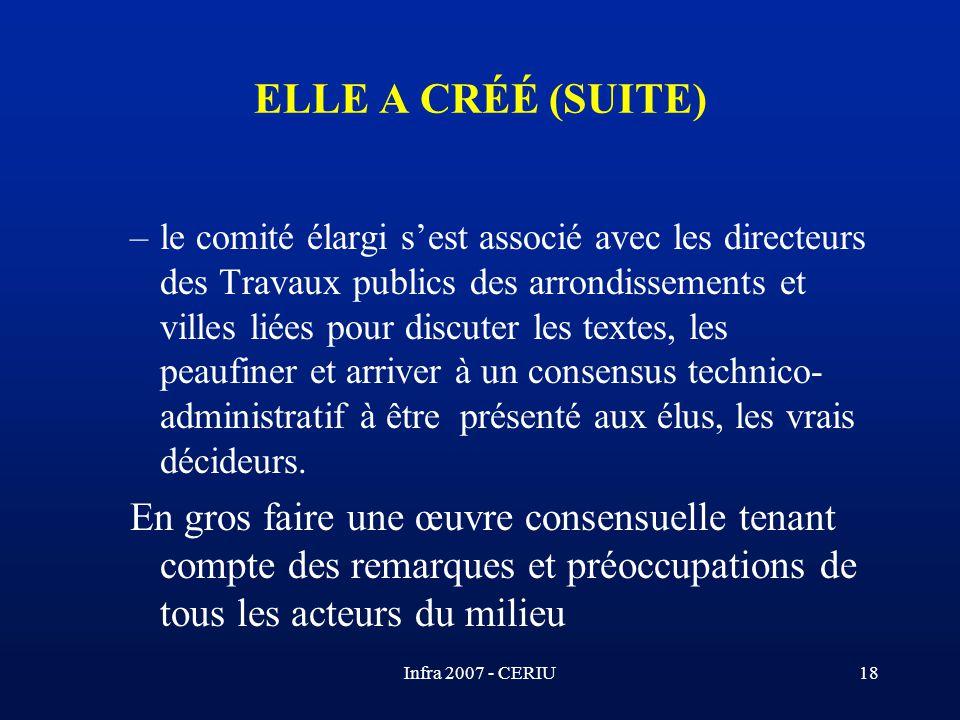 ELLE A CRÉÉ (SUITE)