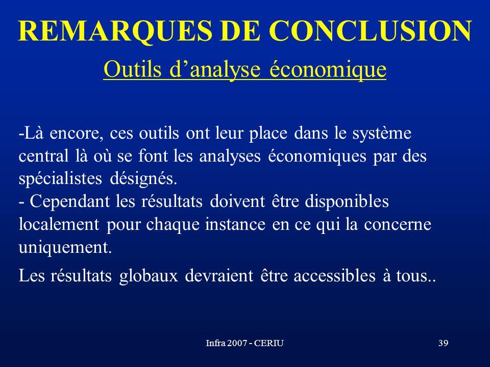 REMARQUES DE CONCLUSION