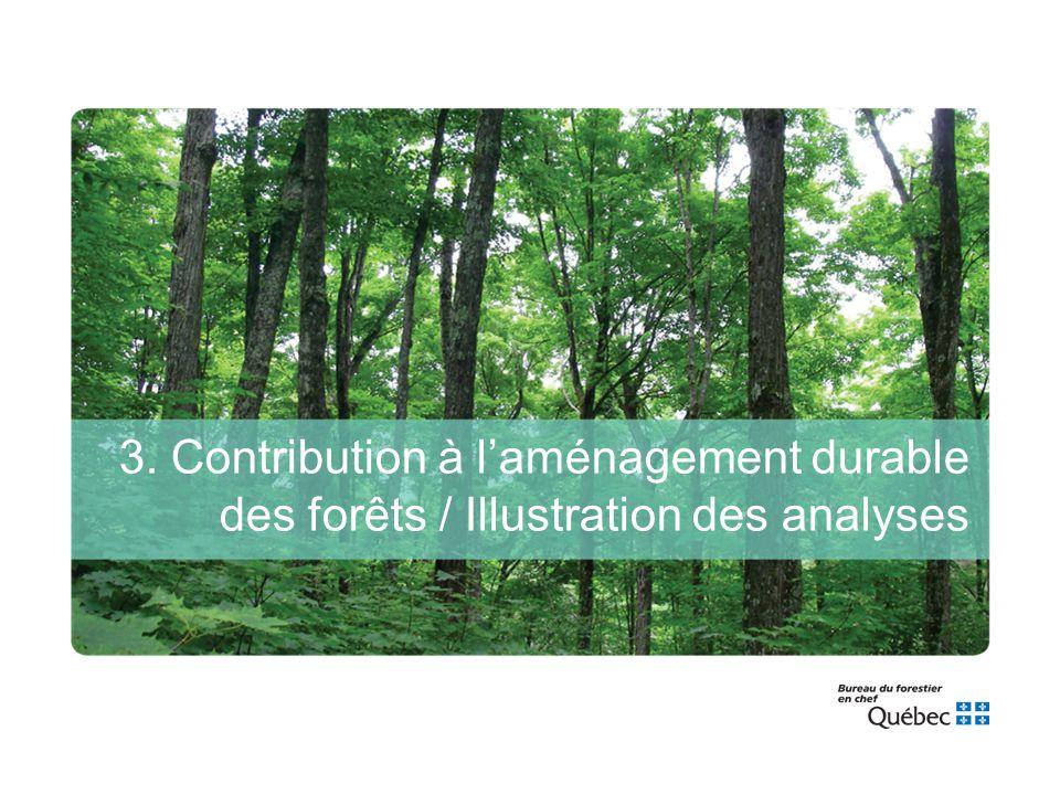 3. Contribution à l'aménagement durable des forêts / Illustration des analyses